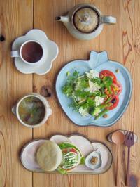 ハンバーガーの朝ごはん - 陶器通販・益子焼 雑貨手作り陶器のサイトショップ 木のねのブログ