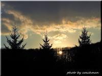 平岡公園に陽が沈む - 北海道photo一撮り旅