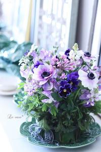 CABBAGE - Le vase*  diary 横浜元町の花教室