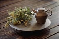 白金彩焼締丸盤皿 - なづな雑記