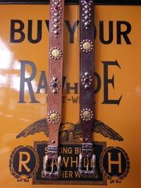 RAWHIDE STUDDED & JEWELED BELT LOT-414, - ROCK-A-HULA Vintage Clothing Blog