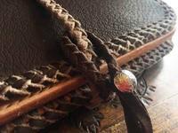 鹿革の長財布 - dahliacyan