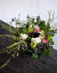 お見舞いのアレンジメント。南19条にお届け。2019/02/27。 - 札幌 花屋 meLL flowers