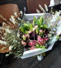ご両親の金婚式のお祝いに花束。2019/03/03。 - 札幌 花屋 meLL flowers