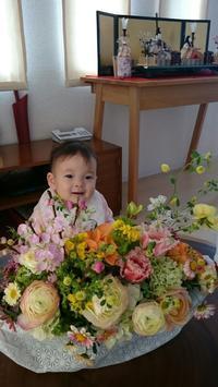 ひなまつり初節句のお祝いに - 一会 ウエディングの花
