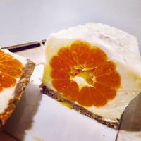 まるごとミカン入りレアチーズケーキ - 黒豆日記