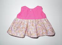 399.メルちゃんピンク花柄ワンピース - フリルの子供服