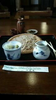 穂高一休庵で昼食 -