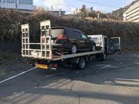 大月市から他府県ナンバーの故障車をレッカー車で廃車の引き取りしました - 廃車戦隊引き取りレンジャー