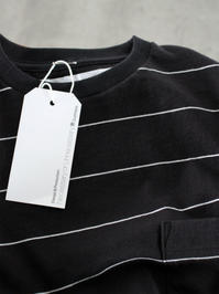 NECESSARY or UNNECESSARY (N.O.UN.)BORDER L/S - BLACK - 『Bumpkins putting on airs』