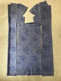 和布で作るロングワンピース裁断印付け - アトリエ A.Y. 洋裁教室