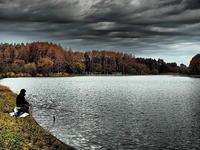 釣り人 - 風の香に誘われて 風景のふぉと缶