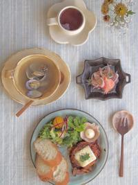 チキンハンバーグの朝ごはん - 陶器通販・益子焼 雑貨手作り陶器のサイトショップ 木のねのブログ