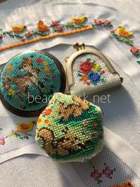 プラナカンビーズ刺繍 教室準備 - プラナカンビーズ刺繍  ビーズワークと旅