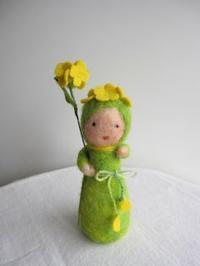 菜の花ちゃん。 - こひつじ的生活~羊毛フェルトで作る小さな世界