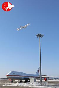 政府専用機2台並びました~~~ - イチガンの花道