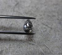 ペアシェイプブラックダイヤモンドK18WGネックレス - hiroe  jewelryつくり