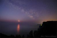 月と金星の大接近 / 夜明けの北山崎 .2 - 遥かなる月光の旅