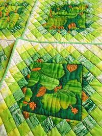 グリーンのウォーターカラー - eri-quilt日記3