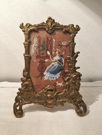 オリジナル絵入りブロンズレリーフ額869,870 - スペイン・バルセロナ・アンティーク gyu's shop