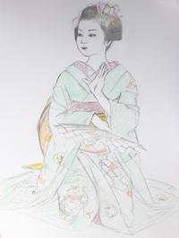 祇園舞妓さんモデル市紘ちゃん - 黒川雅子のデッサン  BLOG版