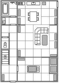 【TRPGモジュール】室内マップ、呪怨風ハウス - セメタリープライム2