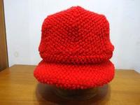 赤いクロッシェ - 帽子店 Chapeaugraphy