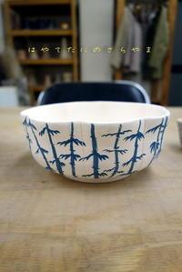 竹林模様の染付 - 疾風谷の皿山…陶芸とオートバイと古伊万里と
