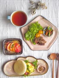 スクランブルエッグサンドの朝ごはん - 陶器通販・益子焼 雑貨手作り陶器のサイトショップ 木のねのブログ