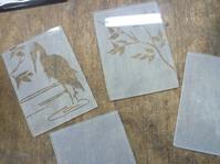 サンドブラストでランプ - atelier GLADYS  ステンドグラス工房 作り手の日々