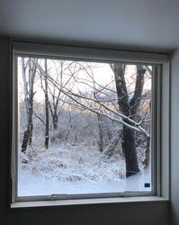 室内から3月の雪景色 - kukka  kukka