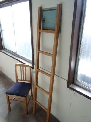 木製梯子 -