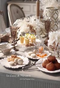 お菓子教室2月のテーブルコーディネート - フランス菓子教室 Paysage Calme