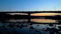 大井川夕景#4 - 長い木の橋