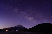 31年3月の富士(2)本栖湖の夜空と富士 - 富士への散歩道 ~撮影記~