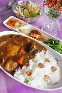 ■昼ご飯【野菜ゴロゴロビーフカレー】親戚にもお裾分けでした^^ - 「料理と趣味の部屋」