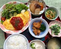 海老とポテトのオムレツ★(^^♪・・・・・700円ランチ - 日だまりカフェ