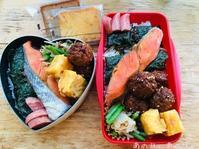 【ふたり弁】鮭海苔弁。ホワイトデーありがとう。 - あの日、あの味。