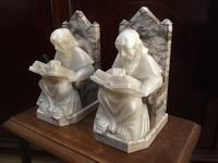 アラバスターと大理石の僧侶のブックエンド3 - スペイン・バルセロナ・アンティーク gyu's shop