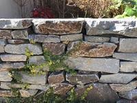 庭の工事の様子、石を積むひと - piecing・針仕事と庭仕事の日々