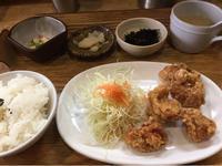 15日 鶏の唐揚げ定食@わたしの食卓 - 香港と黒猫とイズタマアル2