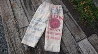 汚れまくりの粉袋からワイドパンツ - 古布や麻の葉