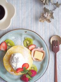 パンケーキ朝ごはん - 陶器通販・益子焼 雑貨手作り陶器のサイトショップ 木のねのブログ