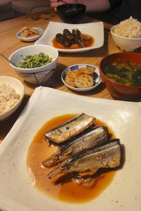 秋刀魚の生姜煮 - 週末は晴れても、雨でも