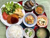 海老と枝豆のコロッケ&鶏天★(^^♪・・・・・700円ランチ - 日だまりカフェ
