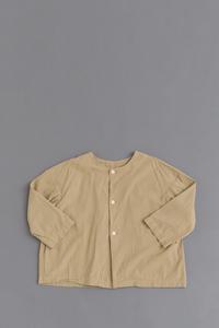 pritNo Collar 8/10 Blouse (Beige) - un.regard.moderne