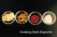 薬膳・ホタテと金針菜の白きくらげスープと、麻婆春雨 - 自家製天然酵母パン教室Espoir3n(エスポワールサンエヌ)料理教室 お菓子教室 さいたま