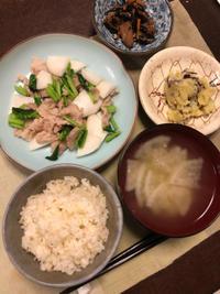 かぶと豚肉の炒め物 - 庶民のショボい食卓