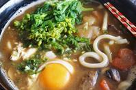 ■昼麺【菜の花と卵入りのカレーうどん】リメイク料理で10分です^^。 - 「料理と趣味の部屋」