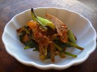 青菜と油揚げのキムチ炒め - LEAFLabo